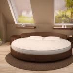 Круглая кровать — интересный выбор