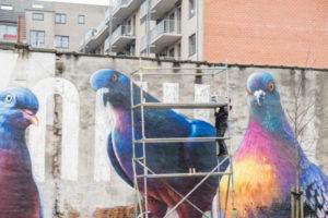 Птицы на фасадах домов (Фото)