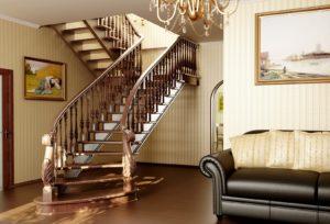 Лестница на второй этаж, какой материал выбрать?