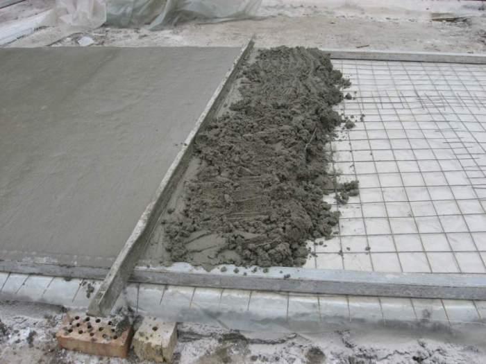 Полы из бетона