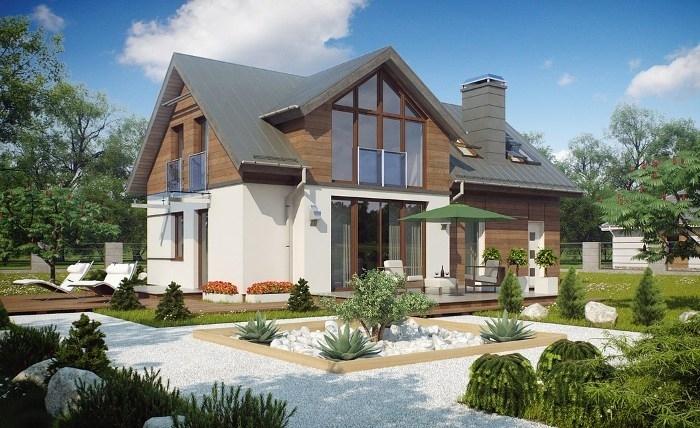 Стильные дома с мансардой